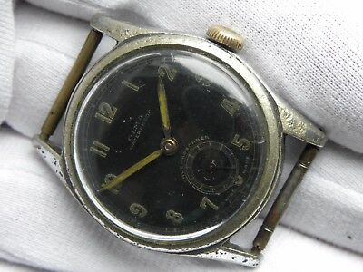 Vintage 1940s OLMA German Wehrmacht Military watch WWII dh