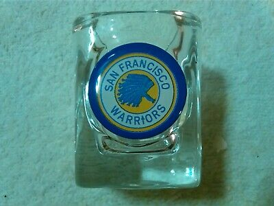 NBA  ® San Francisco Warriors Retro/Vintage Shot Glass With Old Headdress Logo