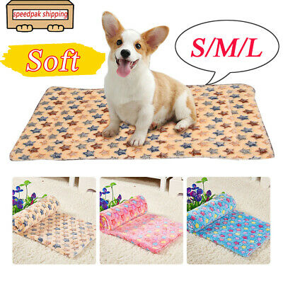 Small/Large Pet Crate Cat Dog Puppy Soft Blanket Bed Cushion Kennel Cage Pad Mat