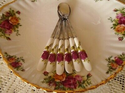 OLD Country Roses ** INSPIRED SET OF 6 TEA / COFFEE SPOONS **