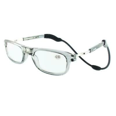 Popular NEW Loopies Transparent Grey High Quality Magnetic Reading Glasses