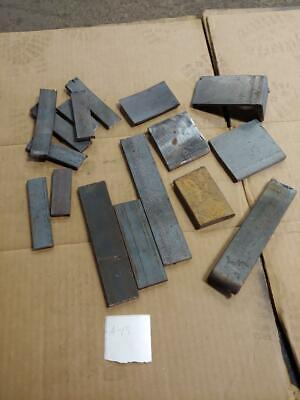 "Hardy Blacksmith Anvil Forge Flat bar Steel forging shims 3+ lbs to 1/2"" thick"
