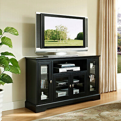 Walker Edison Highboy-Style Wood Media Storage TV Stand Console For TVs Up To -