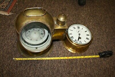 Ships Binnacle and ship clock