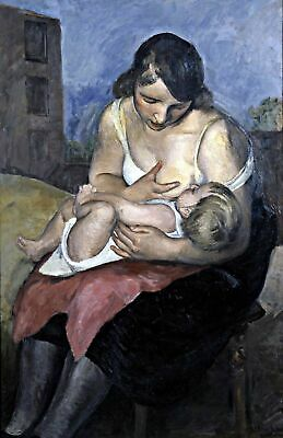 Maternity by Frenchist Jean Marchand. Children USA Only. 11x17 Print