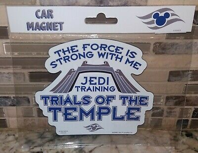 Disney Cruise Line Star Wars Jedi Training Trials of the Temple Car Magnet ~ NEW