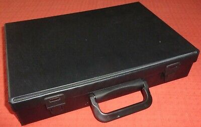 Black Audio Cassette Tape Storage Box/Carry Case For 32 Tapes