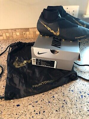 3dc009b9d OG Box NIKE PHANTOM VISION ELITE DF FG Mens 9.5 Black Lux Pack SOCCER  CLEATS Bag