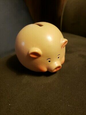 Piggy Bank Ceramic Pig Figurine