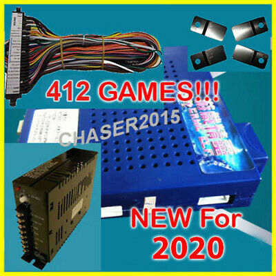 NEW 412 in 1 Game Elf JAMMA Arcade Board VGA VERTICAL w WIRE & PWR US SELLER