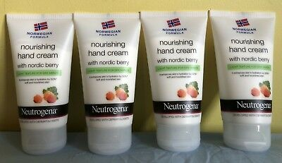 4 x Neutrogena Norwegn Formula Hand Cream with Nordic Berry 75ml - New.