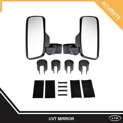 "Mirror Set UTV Side View High Impact Break Away Convex 1.6"" - 2"" Roll Cage"