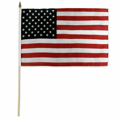 USA Stick Flag 12x18in 24 inch stick US of America American Flag free ship