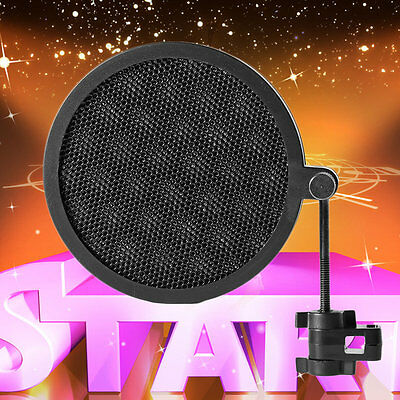 PS-2 Double Layer Studio Microphone Mic Wind Screen Pop Filter For Recording OS