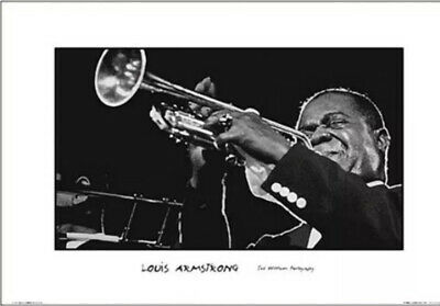 Louis Armstrong Trumpet 24x36 Poster Print Jazz Ted Williams Photography Photo