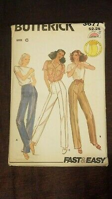 Butterick Vintage Misses Pants Uncut Pattern - 3677