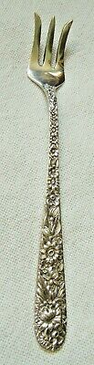 S Kirk & Son Sterling Silver Cocktail Fork Repousse With Mono