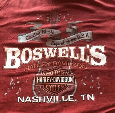 Harley Davidson Mens L T Shirt Boswell's Nashville TN COUNTRY MUSIC CAPITOL USA