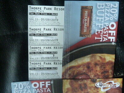 Four Thorpe Park Tickets For Thursday 5Th September 2019 Admits Adult Or Child