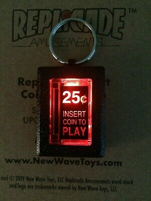 Replicade Insert Coin Arcade Keyring Brand New in Box from New Wave Toys