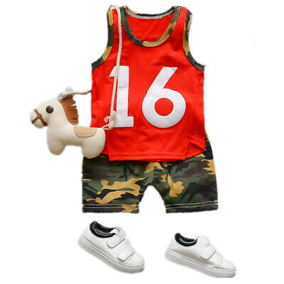 Toddler Kids Baby Boy Clothes Boys Outfits Sets Short T-Shirt + Pants Tops
