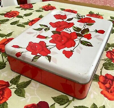 Willow Australia roses tin canister