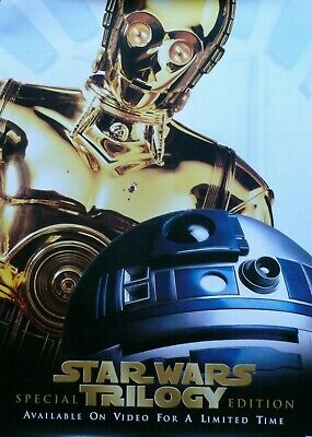 Star Wars Trilogy Mega-Rare Promo Poster 1997 R2-D2 & C3-Po - Made For Store Use