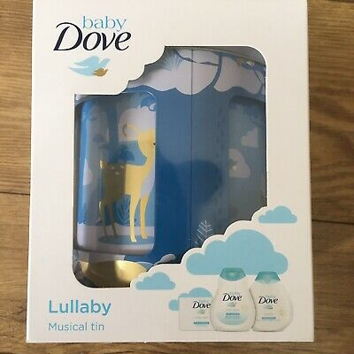 Baby Dove Rich Moisture Lullaby Musical Tin Gift Set : Shampoo , Soap , Lotion