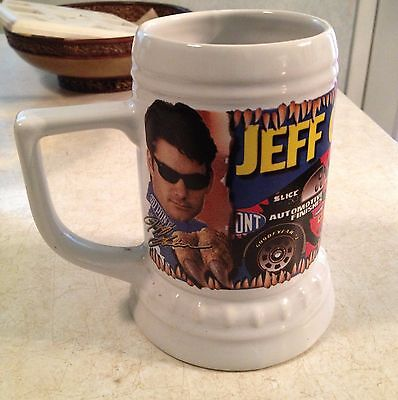 Original JEFF GORDON 1997 JURASSIC PARK THE RIDE NASCAR DRINK MUG CERAMIC