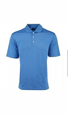 Adidas Men's Climalite Textured Short Sleeve Golf Polo Blue Size S Small