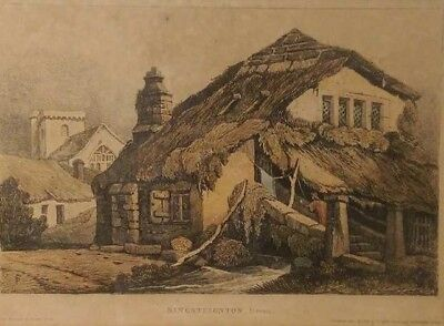 Samuel Prout (1783-1852) Early 19th Century (1813) Etching With Watercolour