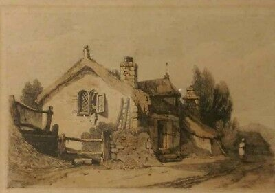 Samuel Prout (1783-1852) 19th Century (1813) Etching With Watercolour