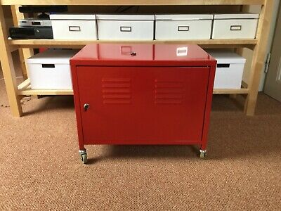 Ikea Ps Schrank In Rot Tv Schrank Rollcontainer