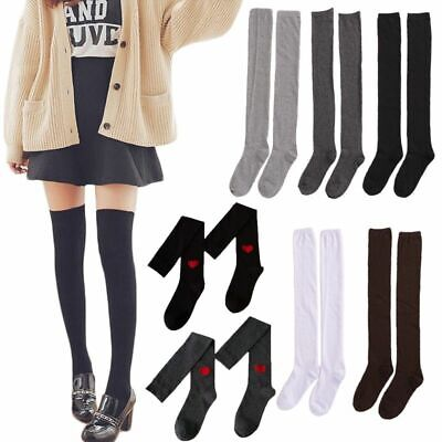 Women Socks Stocking Warm Thigh High Over The Knee Long Cotton Solid Sexy Medias