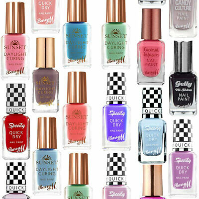 Barry M Nail Polish - Varnish Colours Bright Gel Gelly Scented Quick Dry Nails
