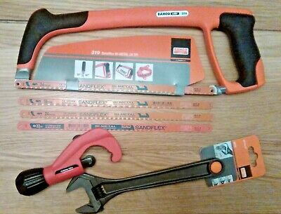 """Bahco 10"""" Spanner 8072, Rothenberger Tube Cutter 6-42mm, Bahco 319 Hacksaw *NEW*"""