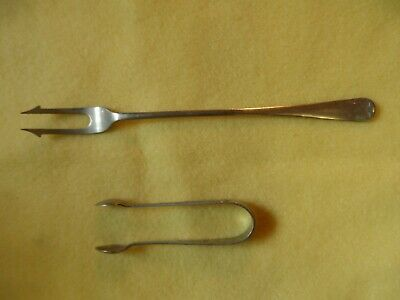 Nickel Silver Pickle Fork and D&A Nevada Silver Tongs