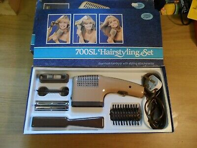 Vintage Boxed BOOTS 700SL Hairdryer Styling Set