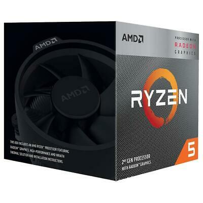 NEW AMD Ryzen 5 3400G 4 Core AM4 3.7GHz CPU Processor Vega 11 65W 8 Thread