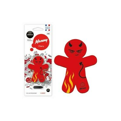 Aroma Manny Devil Cherry Red 3D Long Lasting Car Air Freshener   New, Free Post
