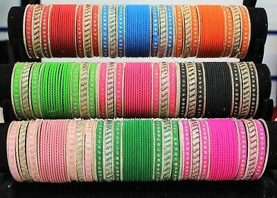 Indian Bollywood Bangles Costume Fashion Jewellery Wedding Party Wear 24 Bracele