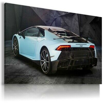 LAMBORGHINI GALLARDO BLUE Sports Cars Wall Art Canvas Picture AU519 MATAGA .