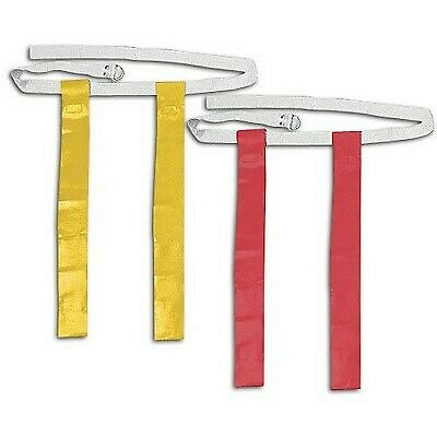 Red and Yellow Football Flag Set - 12 Belts with 24 Flags (12 per color)
