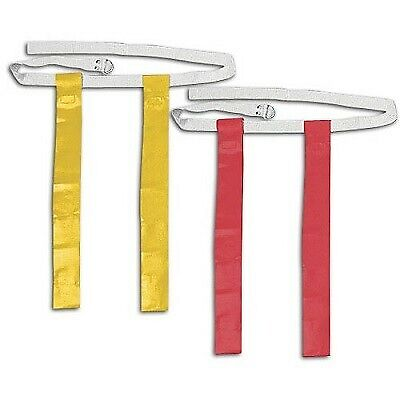 Red and Yellow Football Flag Set - 6 Belts with 12 Flags (6 per color)