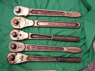 lot of 5 vintage ratchets craftsman williams bonney armstrong--made in USA used