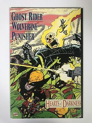 Ghost Rider/Wolverine/Punisher - Hearts Of Darkness Signed By John Romita Jr.