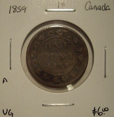 A Canada Victoria 1859 Large Cent - VG