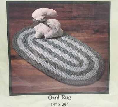 1989 Aunt Philly's Toothbrush Rug Pattern 18x36 Oval 5216F