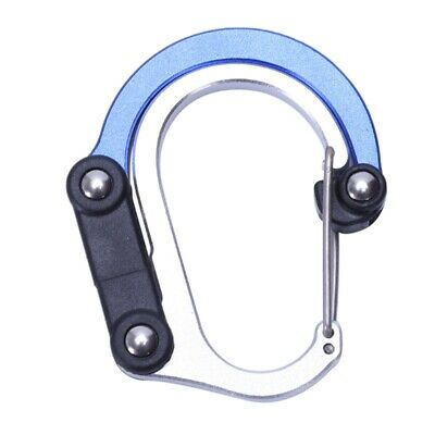 10X(1Pcs Aluminum Alloy Snap Carabiner D-Ring Key Chain Clip Keychain Hiking Ca