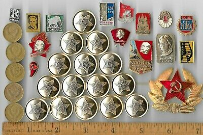 Rare Old Russia LENIN Vintage Badge Coin Collection CCCP WAR Nice Russian Lot us